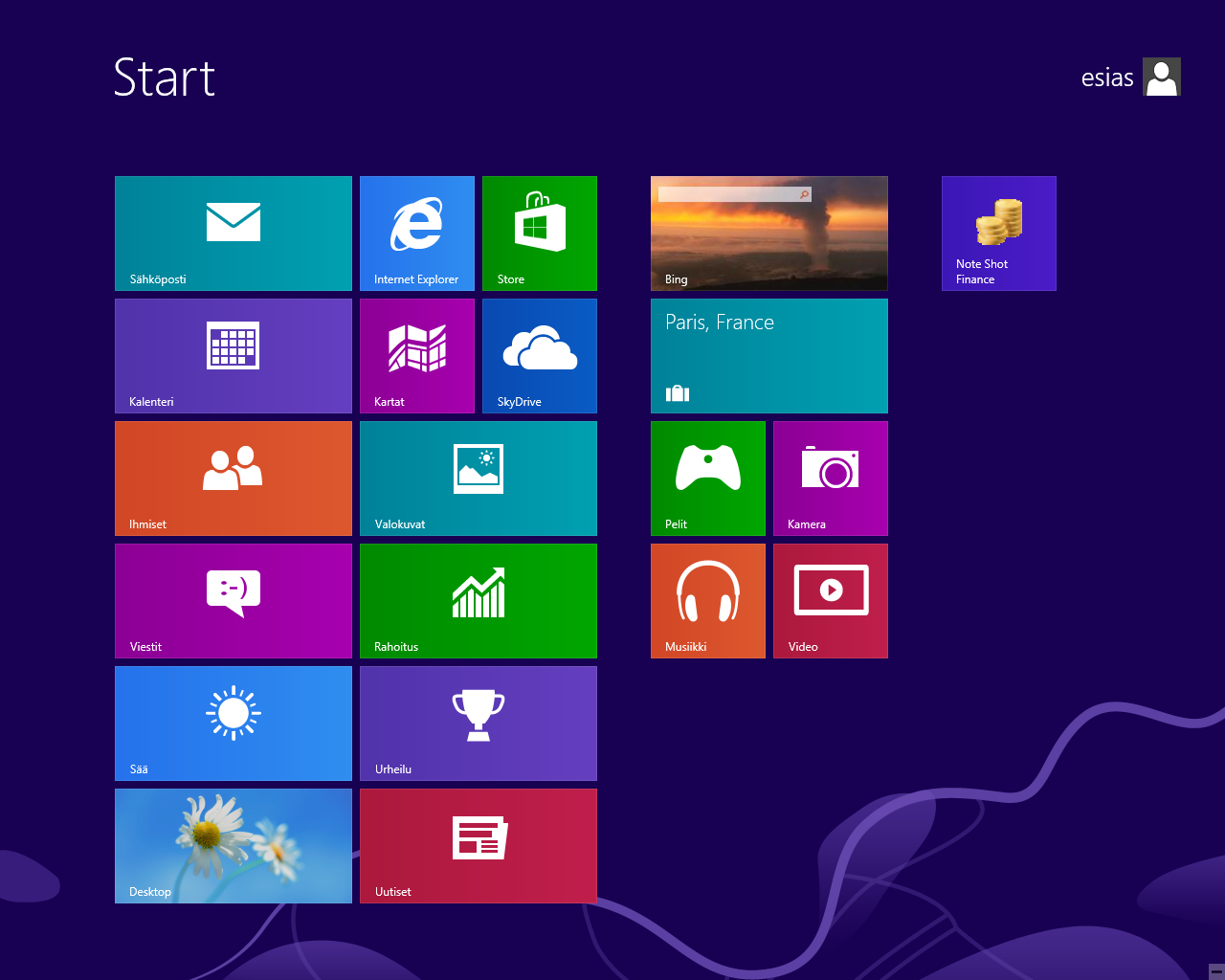 windows 8 aloitusikkuna